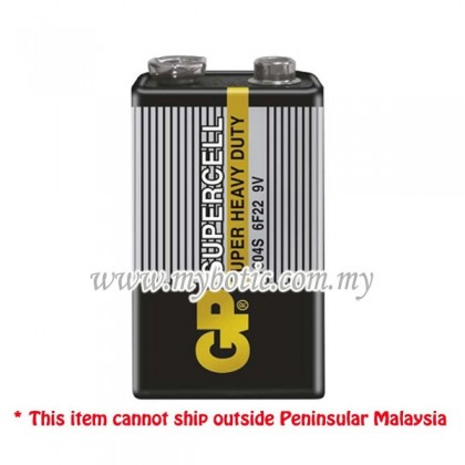 GP 9V Battery / 9V Supercell Battery