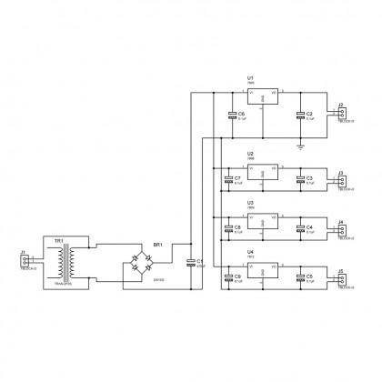 MB-17 AC-DC Power Supply Kit 【 Mybotic Hobby Kit Series 】