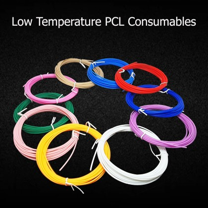 Children-specific low-temperature PCL Consumables (10 Different Color, 50M in total)