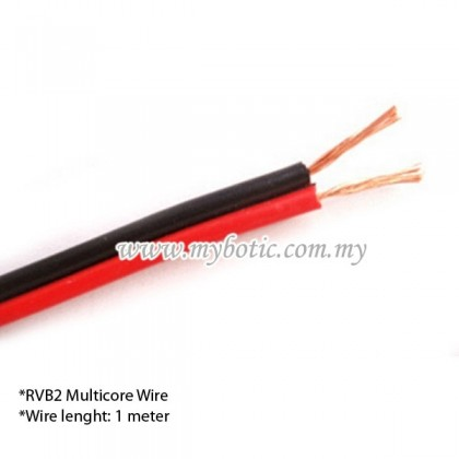 RVB2 Multicore Wire 0.5mm2 AWG 20 (1 meter) Red and Black