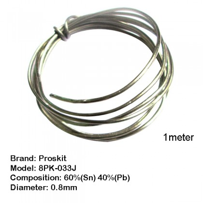 Pro'skit Proskit Solder Lead 0.8mm 8PK-033J (1 meter) Soldering Lead