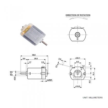 3-6V 130 Small DC Motor RPM17000